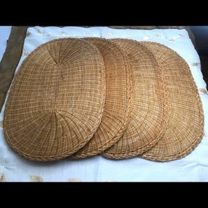 Wicker Placemats Set of 4